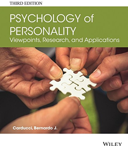 Psychology of Personality Viewpoints, Research, and Applications 3rd 2015 edition cover