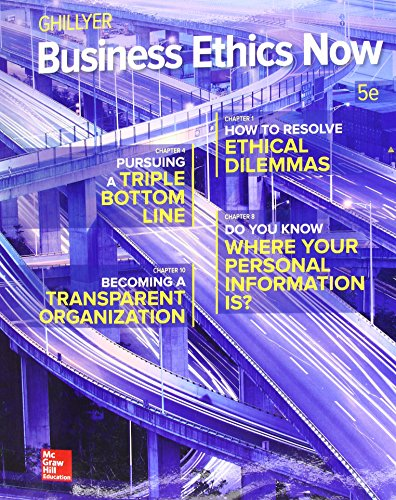 Business Ethics Now:   2017 9781259535437 Front Cover