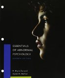 Essentials of Abnormal Psychology + Mindtap Psychology, 1-term Access:   2015 9781305698437 Front Cover