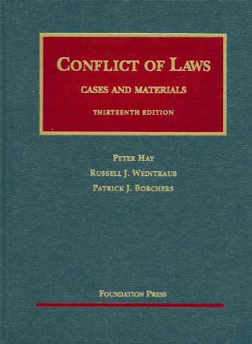 Conflict of Laws - Cases and Materials  13th 2009 (Revised) edition cover