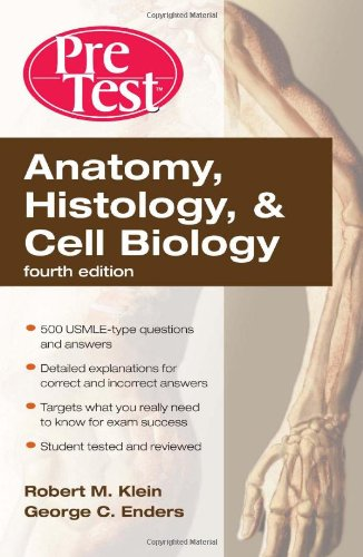 Anatomy, Histology, and Cell Biology  4th 2010 edition cover