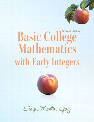 Basic College Mathematics with Early Integers  2nd 2012 edition cover