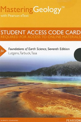 MasteringGeology with Pearson EText -- Standalone Access Card -- for Foundations of Earth Science  7th 2014 edition cover