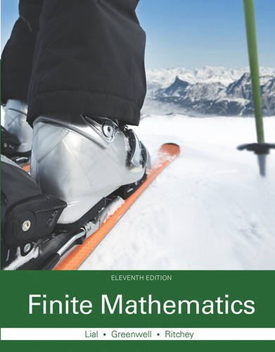 Finite Mathematics  11th 2016 9780321979438 Front Cover