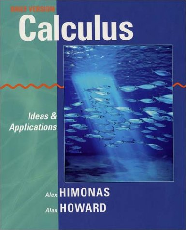 Calculus Ideas and Applications  2003 9780471401438 Front Cover