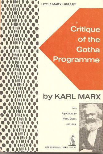 Critique of the Gotha Program  Reprint edition cover