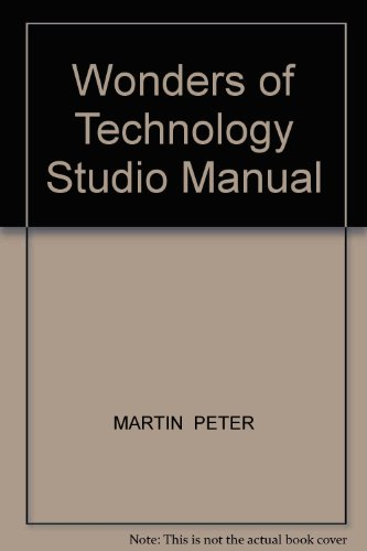Wonders of Technology Studio Manual  Revised 9780757570438 Front Cover