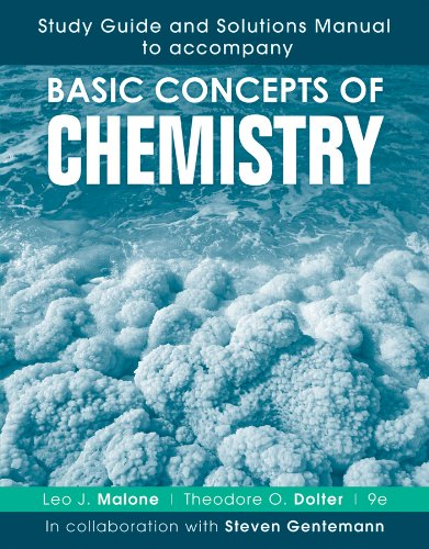Study Guide and Solutions Manual to Accompany Basic Concepts of Chemistry  9th 2013 edition cover