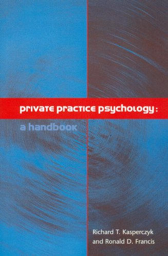 Private Practice Psychology A Handbook  2001 edition cover