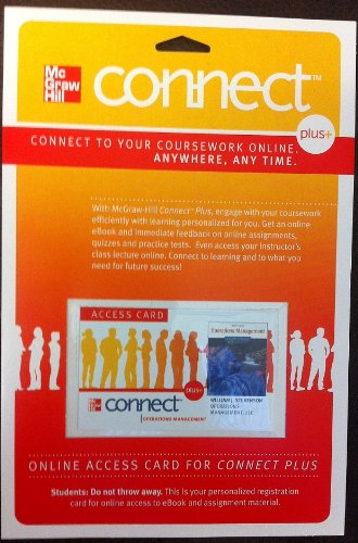 Operations Management Connect Plus Om 1 Sem Access Card:   2011 edition cover