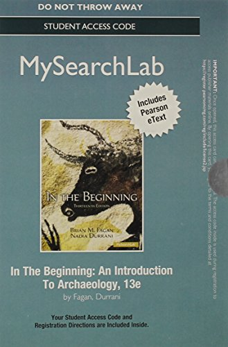 In the Beginning An Introduction to Archaelolgy 13th 2014 edition cover