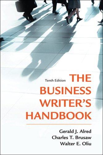 Business Writer's Handbook  10th 2012 edition cover