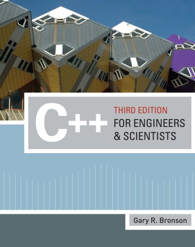 C++ for Engineers and Scientists  3rd 2010 edition cover