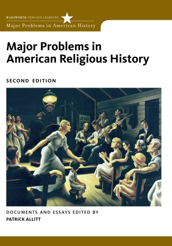 Major Problems in American Religious History  2nd 2013 edition cover