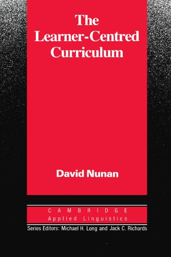 Learner-Centred Curriculum A Study in Second Language Teaching  1988 9780521358439 Front Cover