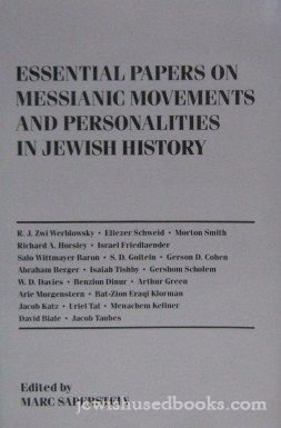 Essential Papers on Messianic Movements and Personalities in Jewish History   1992 edition cover