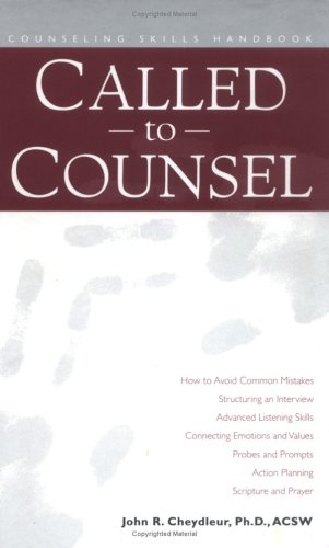 Called to Counsel : Counseling Skills Handbook  1999 edition cover
