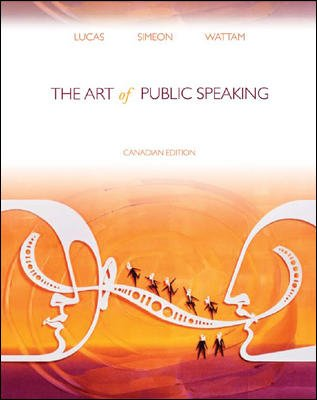 ART OF PUBLIC SPEAKING >CANADIAN< 1st edition cover