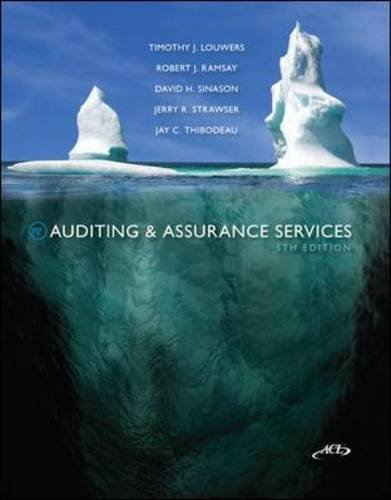 Auditing and Assurance Services  5th 2013 edition cover