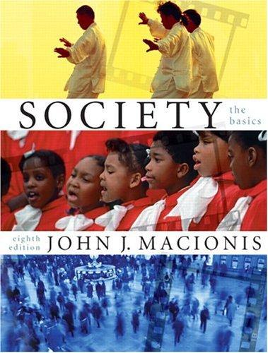 Society The Basics 8th 2006 edition cover
