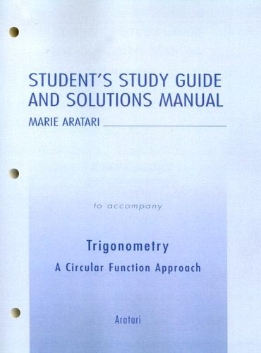 Trigonometry A Circular Function Approach  2004 (Student Manual, Study Guide, etc.) edition cover