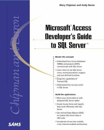 Microsoft Access Developer's Guide to SQL Server   2000 edition cover