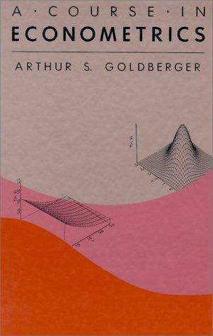 Course in Econometrics   1991 edition cover