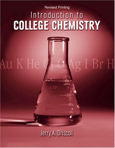 Introduction to College Chemistry   2009 (Revised) 9780757517440 Front Cover
