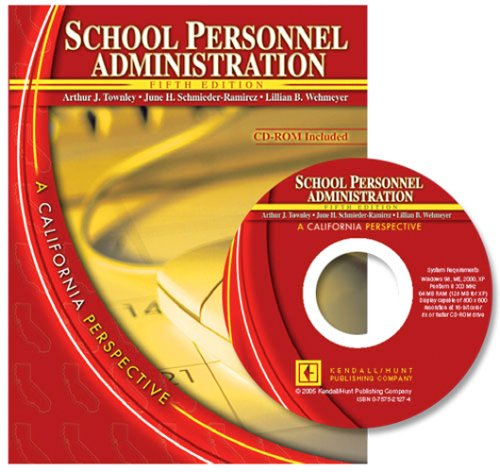 School Personnel Administration A California Perspective 5th 2005 (Revised) edition cover