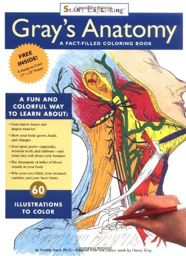 Gray's Anatomy Coloring Book A Fact-Filled Coloring Book Revised 9780762409440 Front Cover