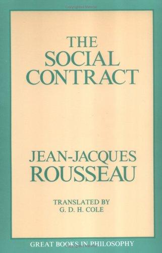 Social Contract  Unabridged edition cover