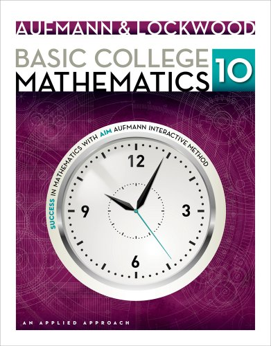 Basic College Mathematics An Applied Approach 10th 2014 edition cover