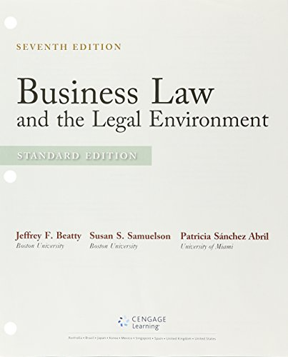 Business Law and the Legal Environment + Lms Integrated for Mindtap Business Law, 2-term Access: Standard Edition  2015 9781305779440 Front Cover