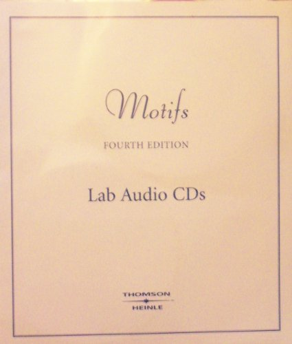 MOTIFS:INTRO.TO FRENCH-6 AUDIO 4th 2007 9781413030440 Front Cover