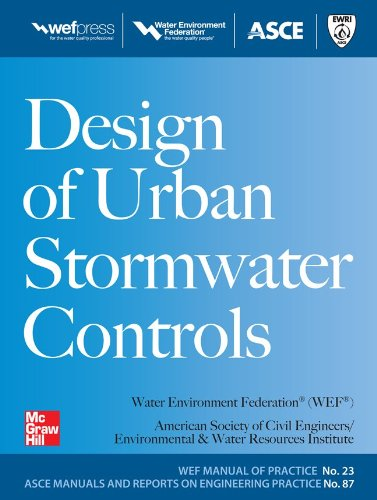 Design of Urban Stormwater Controls, MOP 23 Mop 23 2nd 2012 9780071704441 Front Cover