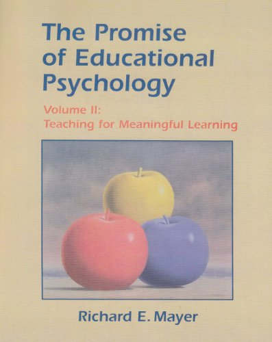 Promise of Educational Psychology Teaching for Meaningful Learning  2002 edition cover