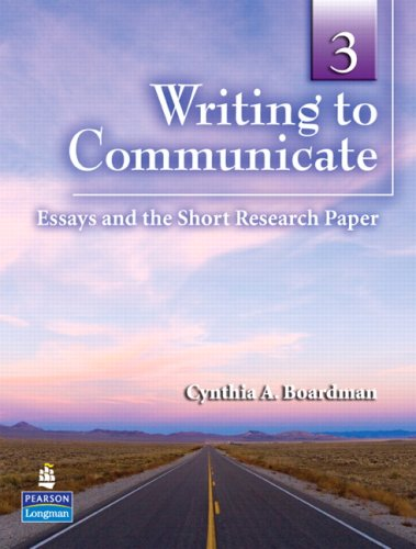 Writing to Communicate Essays and the Short Research Paper  2009 9780132407441 Front Cover