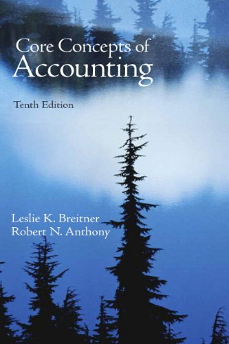 Core Concepts of Accounting  10th 2010 edition cover