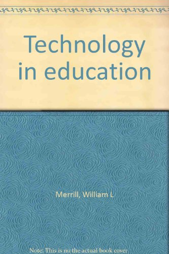 Technology in Education 1st 9780536609441 Front Cover