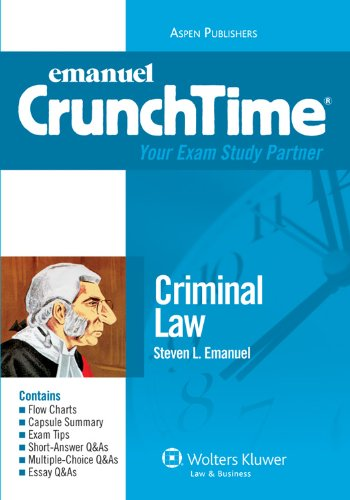 Criminal Law Crunchtime 2010  Student Manual, Study Guide, etc. edition cover