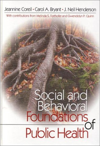 Social and Behavioral Foundations of Public Health   2001 9780761917441 Front Cover