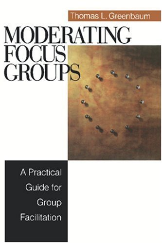 Moderating Focus Groups A Practical Guide for Group Facilitation  1999 edition cover