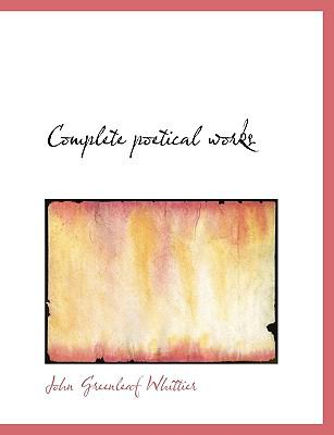 Complete Poetical Works N/A 9781115254441 Front Cover