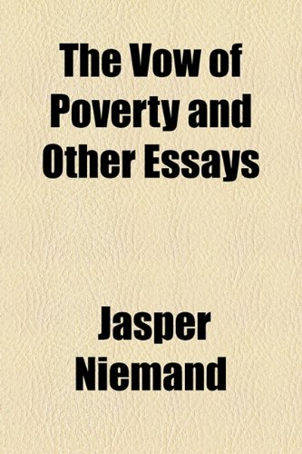 Vow of Poverty and Other Essays  2010 edition cover