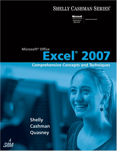 Microsoft Office Excel 2007 Comprehensive Concepts and Techniques  2008 edition cover