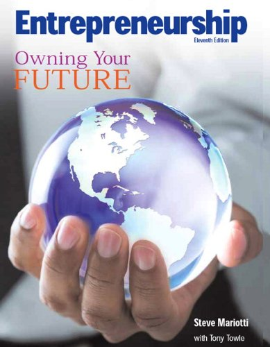 Entrepreneurship Owning Your Future 11th 2010 9780135128442 Front Cover
