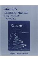 Calculus for Scientists and Engineers Early Transcendentals, Single Variable  2013 edition cover