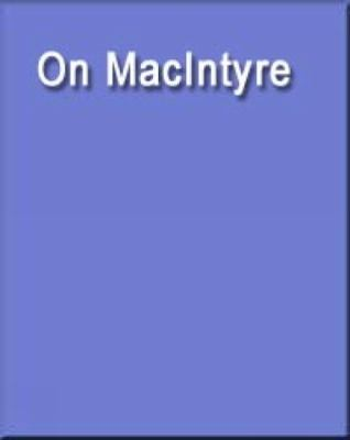 On MacIntyre   2003 9780534622442 Front Cover