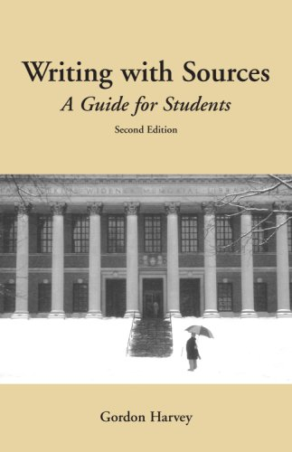 Writing with Sources A Guide for Students 2nd 2008 (Revised) edition cover