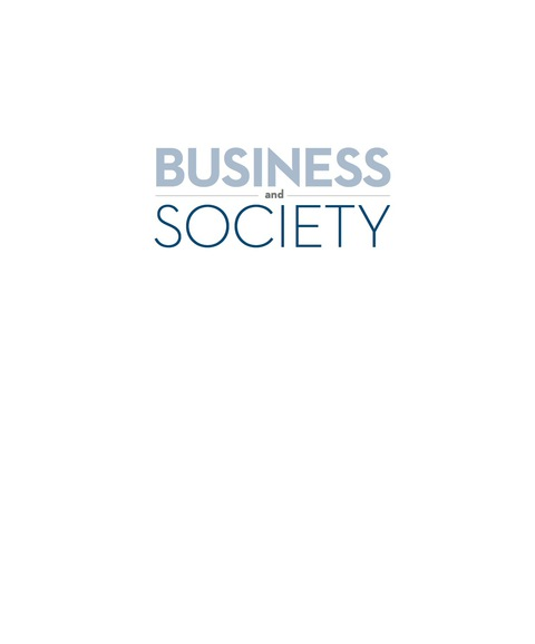 Business and Society   2016 9780983332442 Front Cover